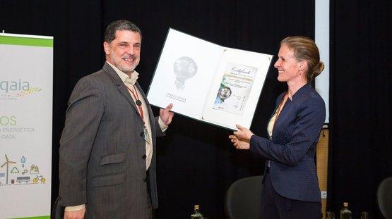 """RNAE galardoada com o prémio """"Energy Globe Award Portugal 2019"""" pelo projeto Energy OFF"""