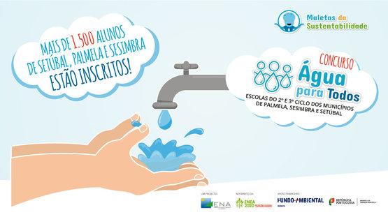 Mais de 1.500 alunos de Setúbal, Palmela e Sesimbra participam no Concurso Água para Todos! promovido pela ENA