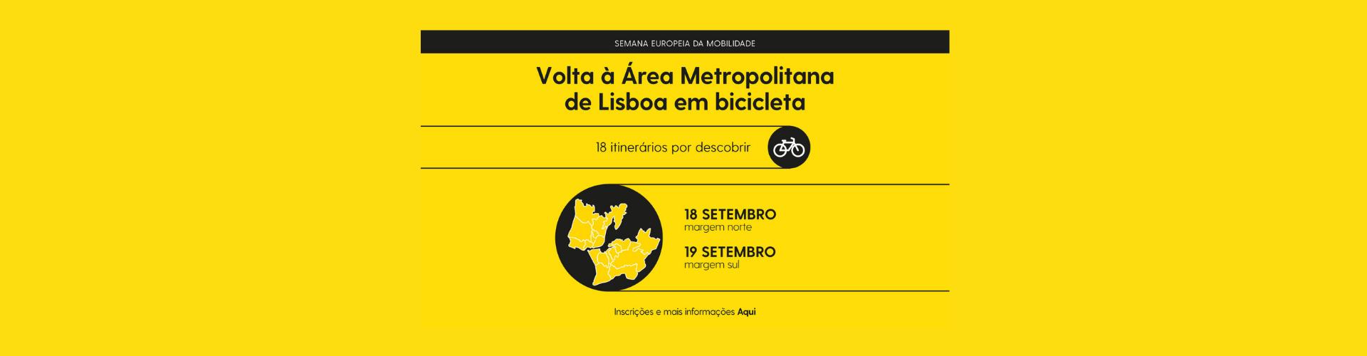 VOLTA ÀÁREA METROPOLITANA DE LISBOA EM BICICLETA